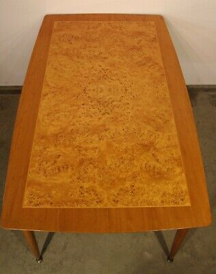 Vintage mid century Danish era  retro dining table 1960's blonde wood seats 6