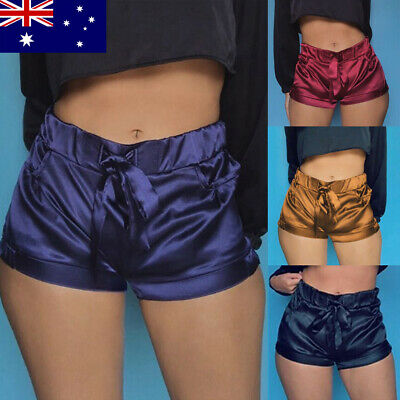 AU Women Shorts Elastic High Waist Hot Pants Fitness Gym Yoga Hot Pants Sports