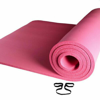 New 6mm Thick Yoga Mat Exercise Mat Workout Fitness Pilates Non Slip Eco Foam