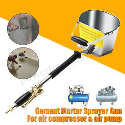 Cement Mortar Wall  Sprayer Gun Alloy Air Stucco Shovel Plaster Hopper Hand Tool