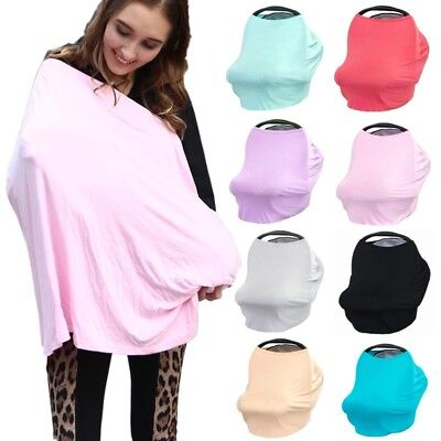 Baby Car Seat Cover Canopy Nursing Cover Multi-Use Stretchy Infinity Scarf