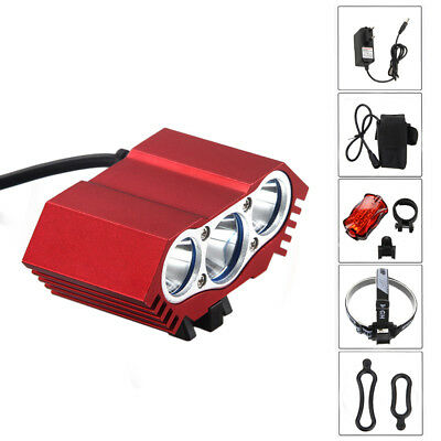 Powerful 9000LM T6 LED Bike Headlight Front Lamp Rechargable Torch 6400mAh