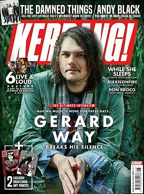 Kerrang magazine 1761 23rd February 2019 Gerard Way The Damned Andy Black NEW