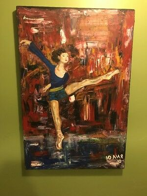 Original Painting- Acrylic on Canvas - Dancer - Signed