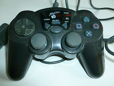 Sony PlayStation PS1 MadCatz Dual Shock Black Controller Third Party Turbo Mode