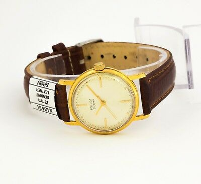 Poljot 2209 unisex mechanical USSR Soviet wristwatch 23 jewels Gold plated AU 20