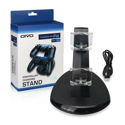 PS4 Controller Dual Lade Charging Stand Station Ladestation Dock mit LEDs