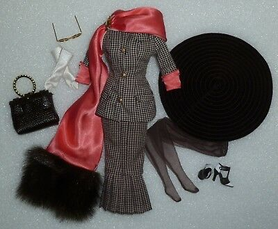 Barbie Retro 40's Look Houndstooth Suit Fashion ~Newly Unboxed~ Free U.S Ship