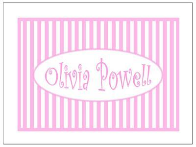 Bubbles-n-Stripes Personalized Notecards~ Many Colors!