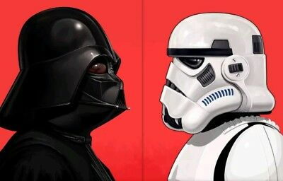 Mike Mitchell / Darth Vader & Stormtrooper Poster SET (2) Star Wars Mondo