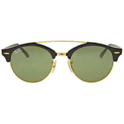 d9a519c82e8d8 Ray Ban Clubround Double Bridge Green Classic G-15 Sunglasses RB4346-901-51