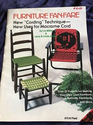 Two Vintage Macrame Books Furniture Fanfare Chairs, Footstools, Lawn Furniture