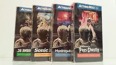 25 VHS Clear Plastic Slip on Covers Box Protectors Action Max
