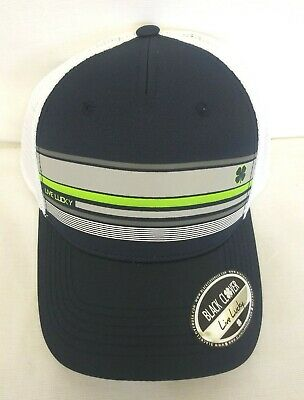 new arrival 36198 aef3e BLACK CLOVER On Deck 3 Cap Hat Adjustable Navy Lime White Mesh NEW