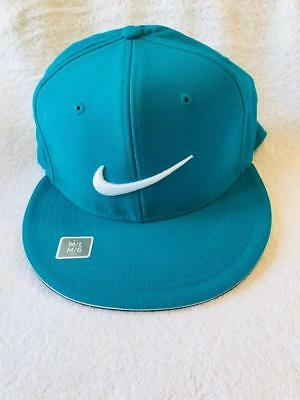 7368766fb NIKE GOLF TRUE Statement Aerobill Fitted Hat, Blue Jay/White, M/L ...