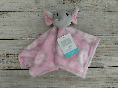 M L20 Hudson Baby Security Blanket Blue Owl Gift Shower 14 x 14 Soft Blankie