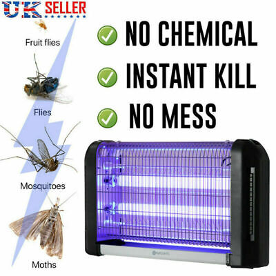20W Electric Insect Mosquito Fly Killer Lamp Bug Zapper UV Home Kitchen Office