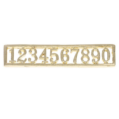 1:12 Dollhouse miniature door numbers for doll house room decorationFB