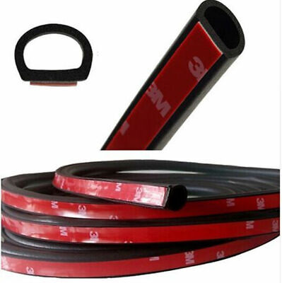 "4m 157"" Car SUV Small D Type Rubber Edge Seal Hollow Door Weather Strip Sealings"