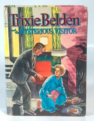 Vintage 1954 Trixie Belden And The Mysterious Visitor Whitman #4 Julie Campbell
