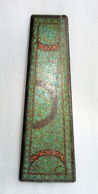 Antique Old Wooden Hand Carved And Lacquer Painted Rectangular Shape Big Box