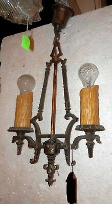 antique gothic or edwardian light fixture rewired ready to go, vintage