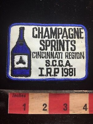 Vtg 1981 SCCA SPORT CAR CHAMPAGNE SPRINT RACES CINCINNATI Advertising Patch 78GG