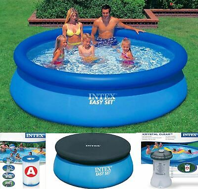 New 8ft 10ft 12ft 15ft Easy Set Round Swimming Pool with Pump Filter