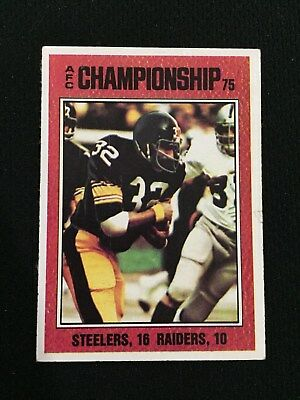930263810 1975 Afc Championship Game Steelers Franco Harris Vintage Topps Football  Card