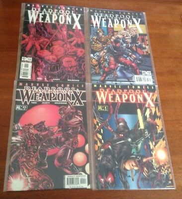 Deadpool #57-60 - Agent Of Weapon X Complete Story (Marvel, 2001)