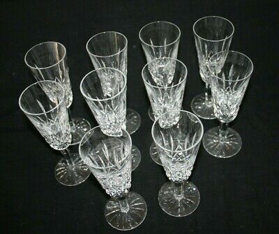Waterford Lead Crystal Lismore Champagne Flute set of 10
