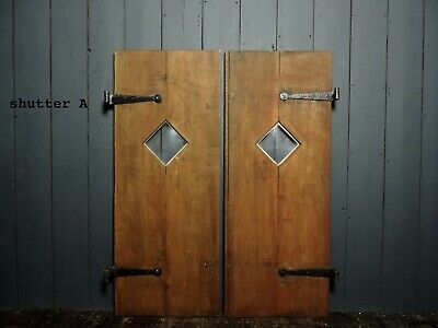 Original Reclaimed Vintage Oak Shutters 4 Pairs Available (OS19)
