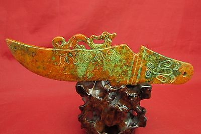 Chinese Jade hand carving knife Chinese jade ornaments A659