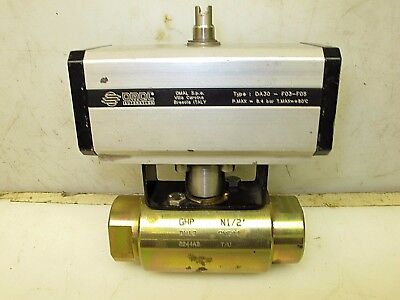 """Gemels Actuated Ball Valve 1/2"""" NPT 5366 PSI"""