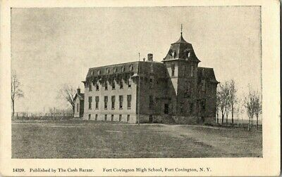 EARLY 1900'S. SCHOOL HOUSE. FORT COVINGTON, NY. POSTCARD q8