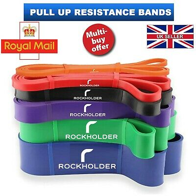 Resistance Bands Assisted Pull Up Exercise Loop Exercise Set Stretching Gym UK H
