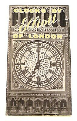 "1969 ""Clocks by Elliot of London"" Pocket Catalogue – Free Shipping!"