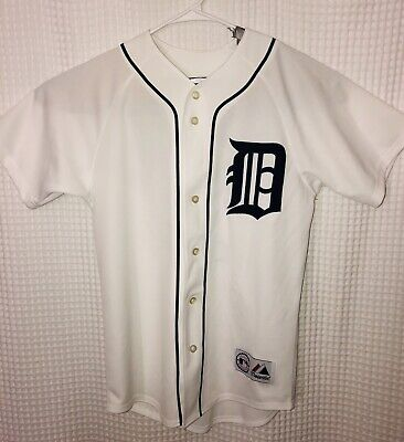 watch 8e688 ae647 DETROIT TIGERS 7 IVAN PUDGE RODRIGUEZ JERSEY Adult Small Authentic Majestic
