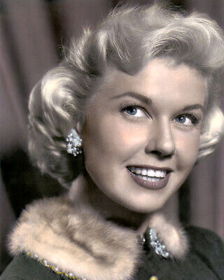 """Doris Day By The Light Of The Silvery Moon 1953 8X10"""" Hand Color Tinted Photo"""