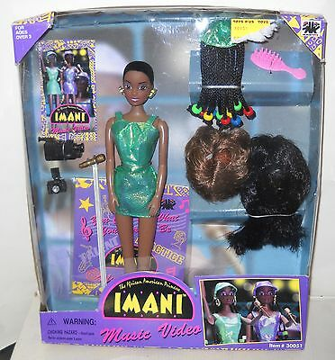 #3437 NRFB Vintage OLMEC Imani Music Video African American Doll Giftset