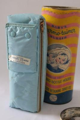 Vtg FASHIONCRAFT Baby's THERMO-TAINER Insulated NURSING BOTTLE HOLDER (b6)