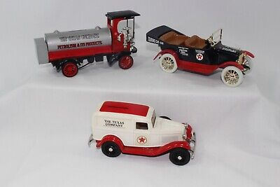 ERTL Texaco 1:32 Collectable Truck Bank Lot of 3