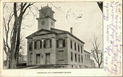 1906. REFORMED CHURCH.. COEYMANS, NY POSTCARD q9
