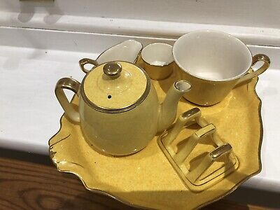 Vintage Royal Winton Breakfast Set - Sunshine Yellow Excellent Condition