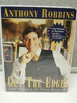 Anthony Robbins Get The Edge 8 Cassette Tapes + 1 VHS Video Set! Tony Robbins