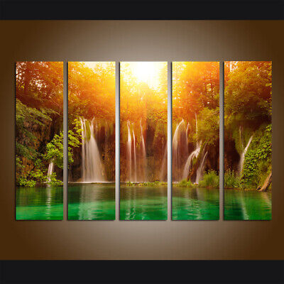 Canvas Waterfall Landscape Art Prints Painting Modern Living Room Home Wall Deco