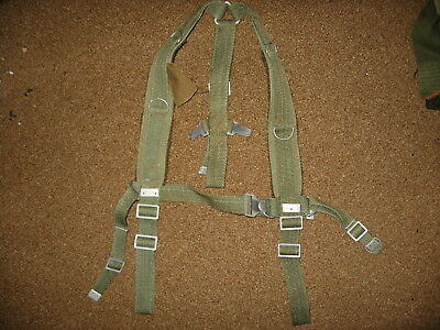 Polish Army green web suspenders nos military surplus