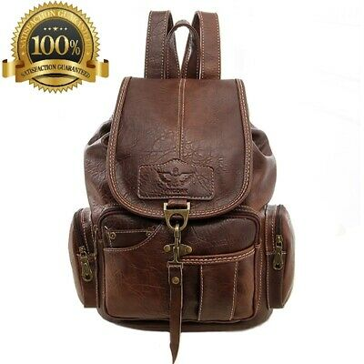 b121f5e70 Vintage Women PU Leather Fashion Backpack Soft Handle In Brown Travel Pack  Bag