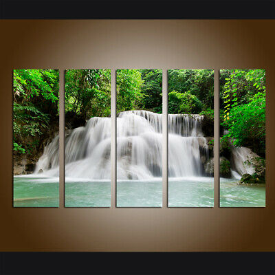 Landscape Waterfall Canvas Art Print Painting Picture Living Room Wall art Decor