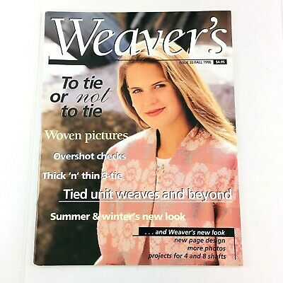 Weaver's Magazine Issue 33 1996: Woven Pictures, Overshot Checks